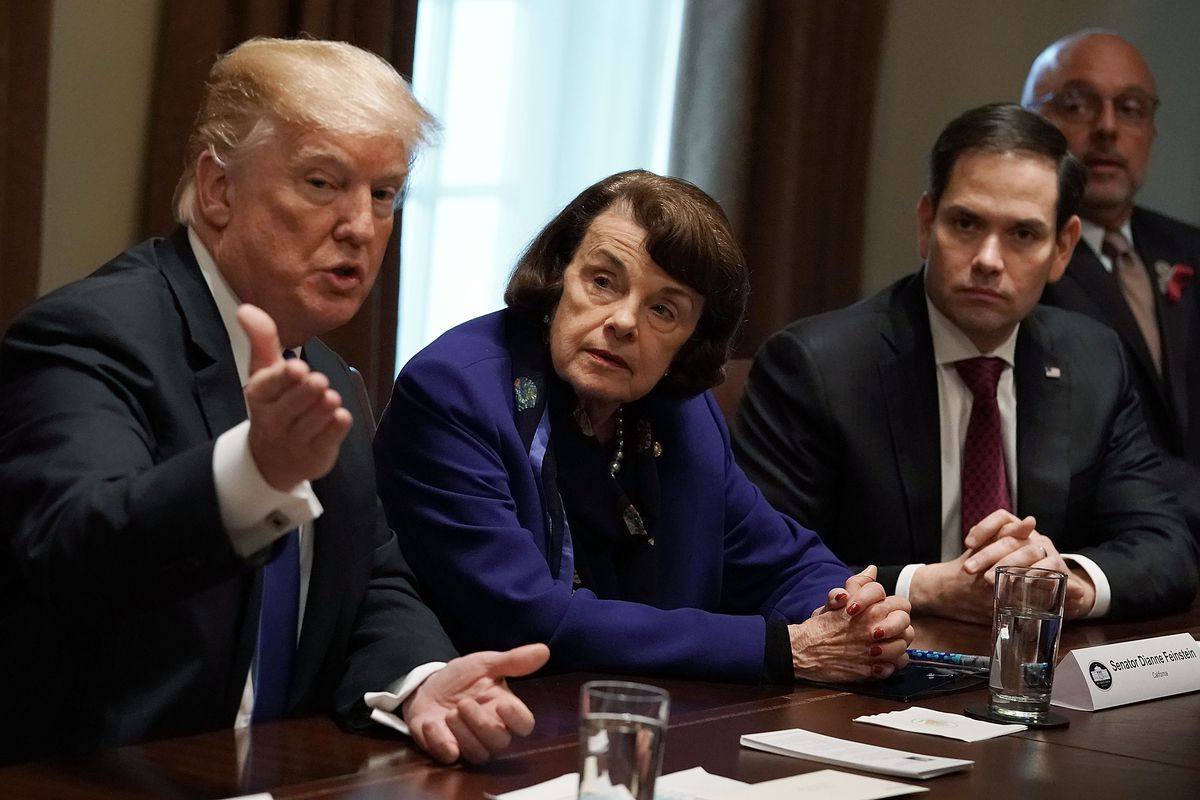 President Trump Holds Meeting With Bipartisan Congress Members To Discuss School Safety