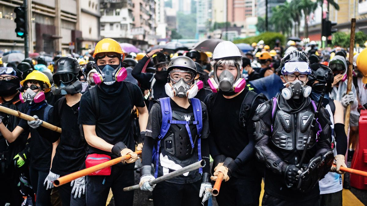 Image result for hong kong protest uniform