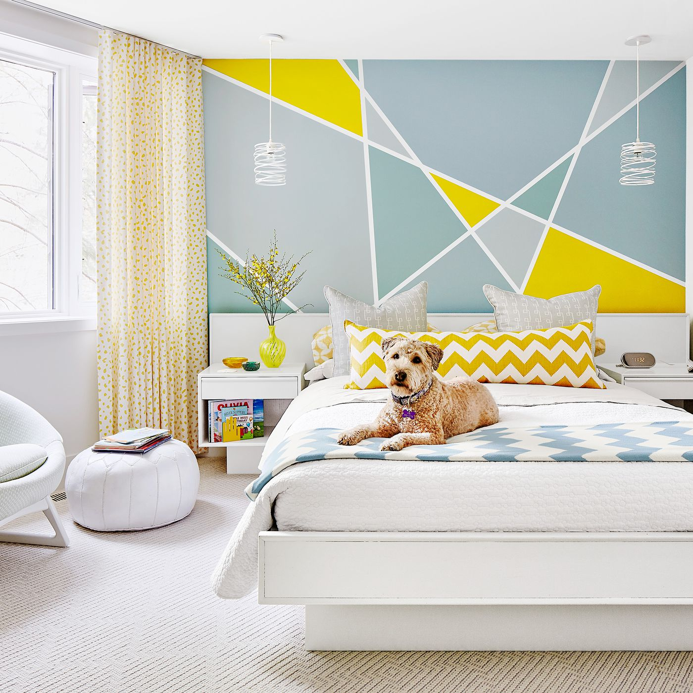 Paint A Simple Geometric Pattern On Your Bedroom Wall This Old House