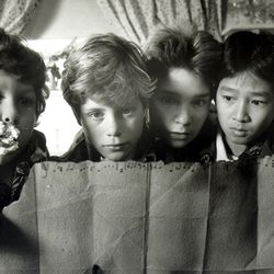 """Jeff B. Cohen, Sean Astin, Corey Feldman and Ke Huy-Quan star in """"The Goonies."""" The hit Netflix show """"Stranger Things"""" draws inspiration from many films from the '80s, including """"The Goonies."""" The second season of """"Stranger Things"""" will be available on Oct. 27."""