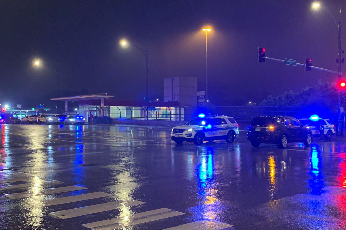 Chicago police are conducting a homicide investigation after a man was pushed in front of an oncoming train May 29, 2020, at the 87th Street Red Line station in Chatham. A suspect has been arrested.