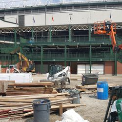 The new west entrance and the plaza -