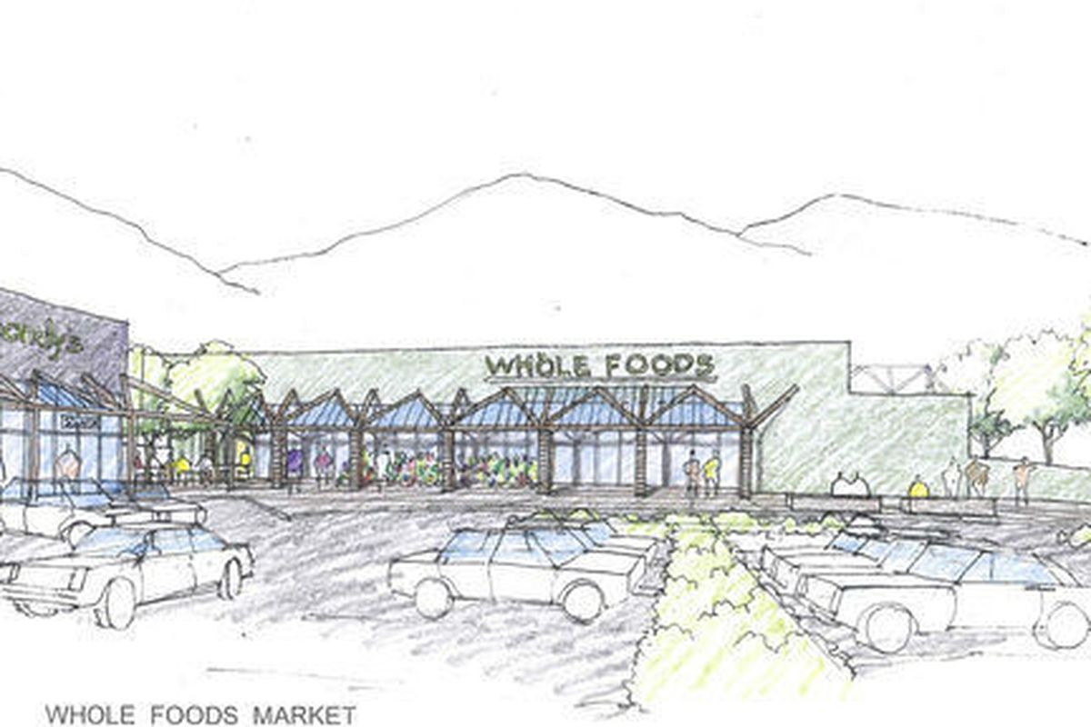 """Sketch of Whole Foods Malibu via <a href=""""http://la.curbed.com/archives/2012/05/malibuites_worried_whole_foods_will_ruin_their_rural_burg.php"""">Curbed</a>."""