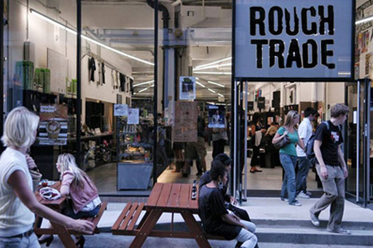 """Rough Trade East in London. Image via <a href=""""http://now-here-this.timeout.com/2011/09/20/caught-by-the-river-bookshop/"""">Time Out</a>"""