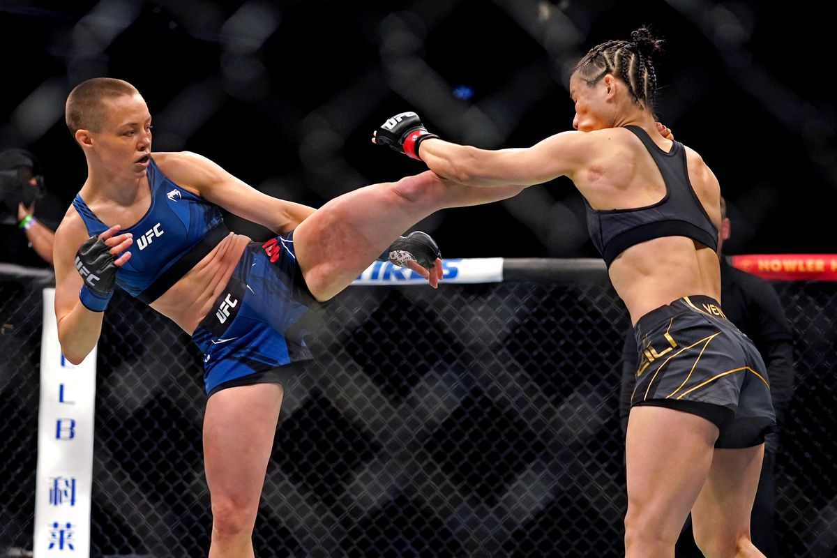 Namajunas vs Zhang breakdown: Ain't that a kick in the head - Bloody Elbow