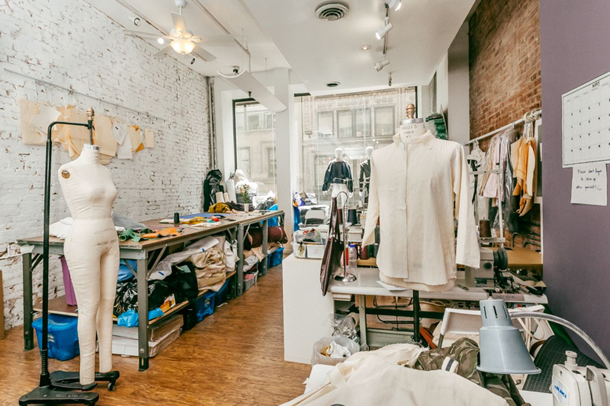 """Inside the Garment District headquarters; photo by <a href=""""http://drielys.com"""">Driely S.</a> for Racked"""