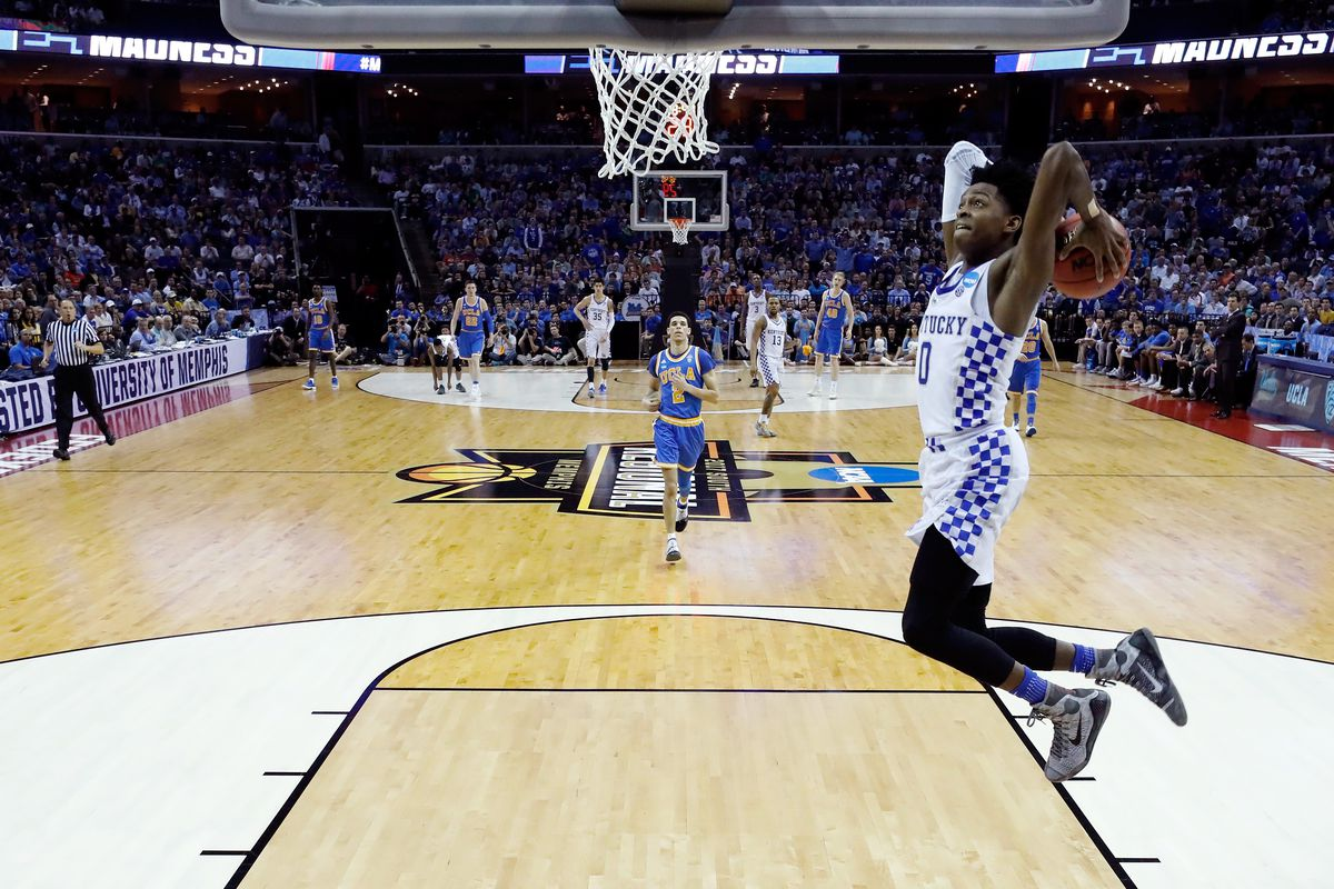 The Sacramento Kings select De'Aaron Fox from Kentucky with the No. 5 overall pick in the Blazer's Edge 2017 NBA Mock Draft.