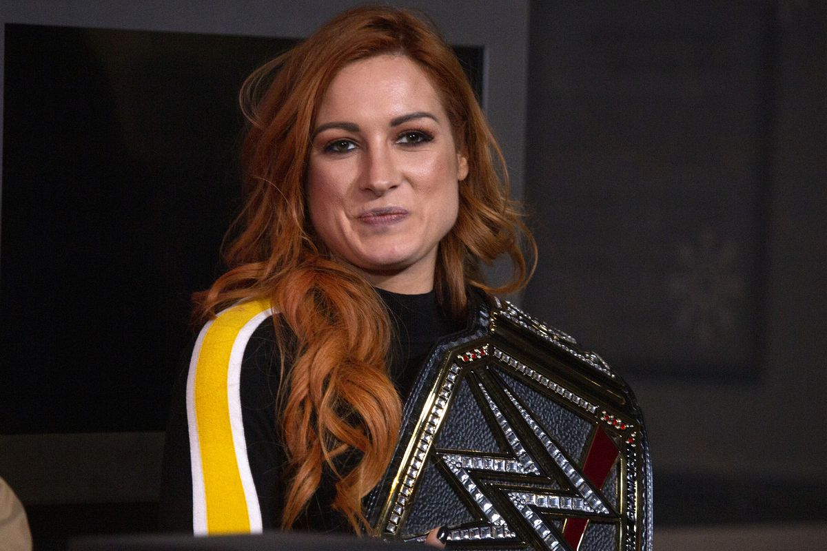 WWE Superstar Becky Lynch celebrates Wrestlemania 35 at The Empire State Building on April 05, 2019 in New York City.