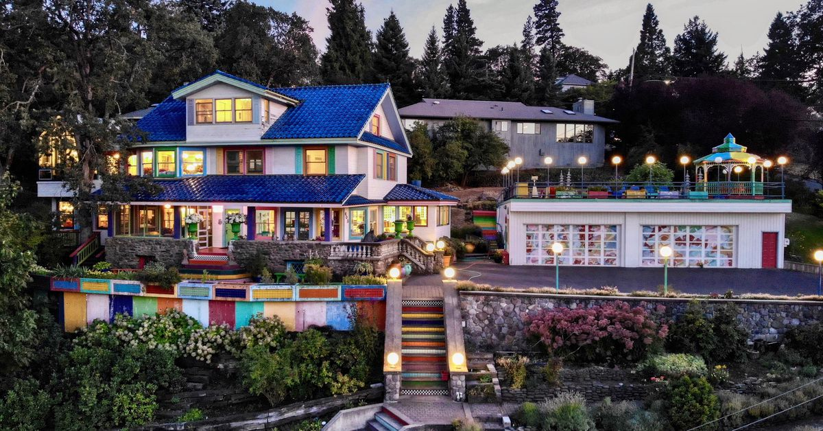 'Rainbow House' with scenic river views asks $1.4M