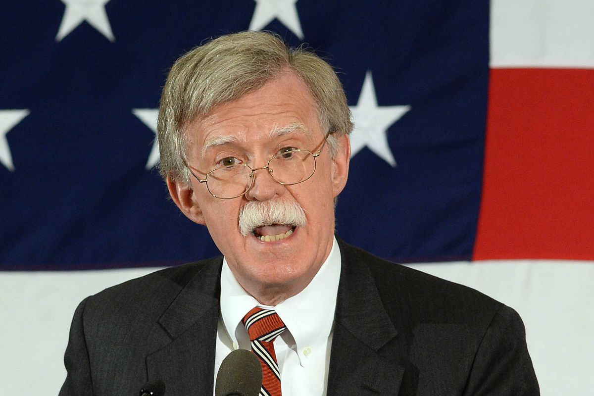 Former Ambassador to the United Nations John Bolton speaks at the First in the Nation Republican Leadership Summit April 17, 2015 in Nashua, New Hampshire