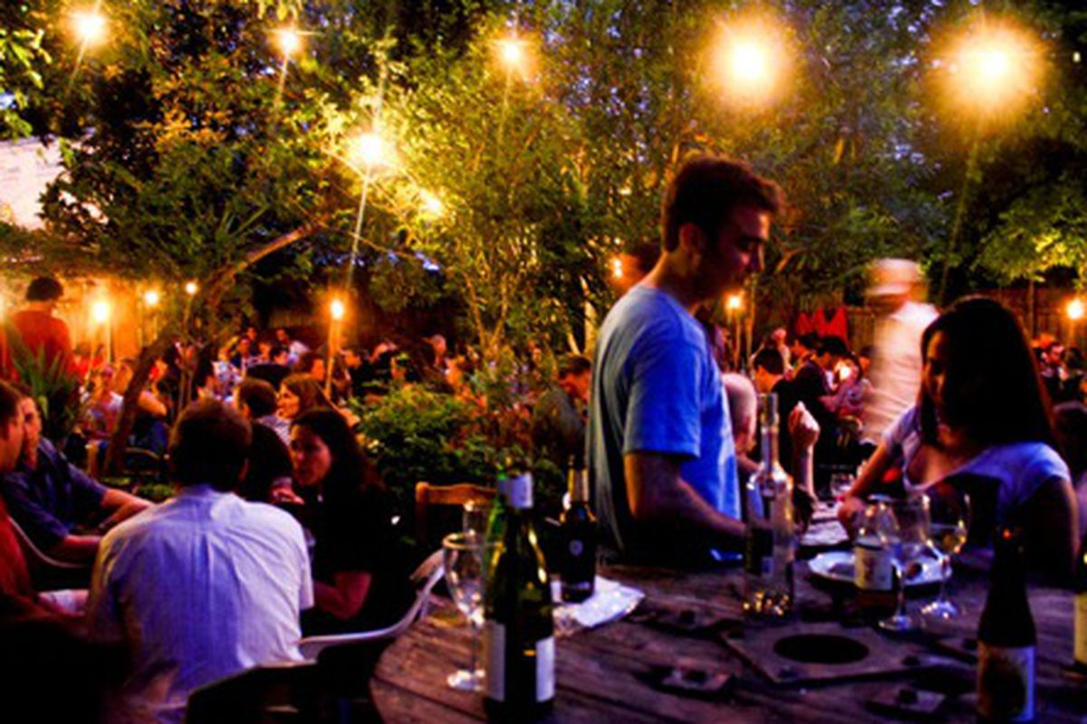 The backyard at Bacchanal on a busy night in 2010.