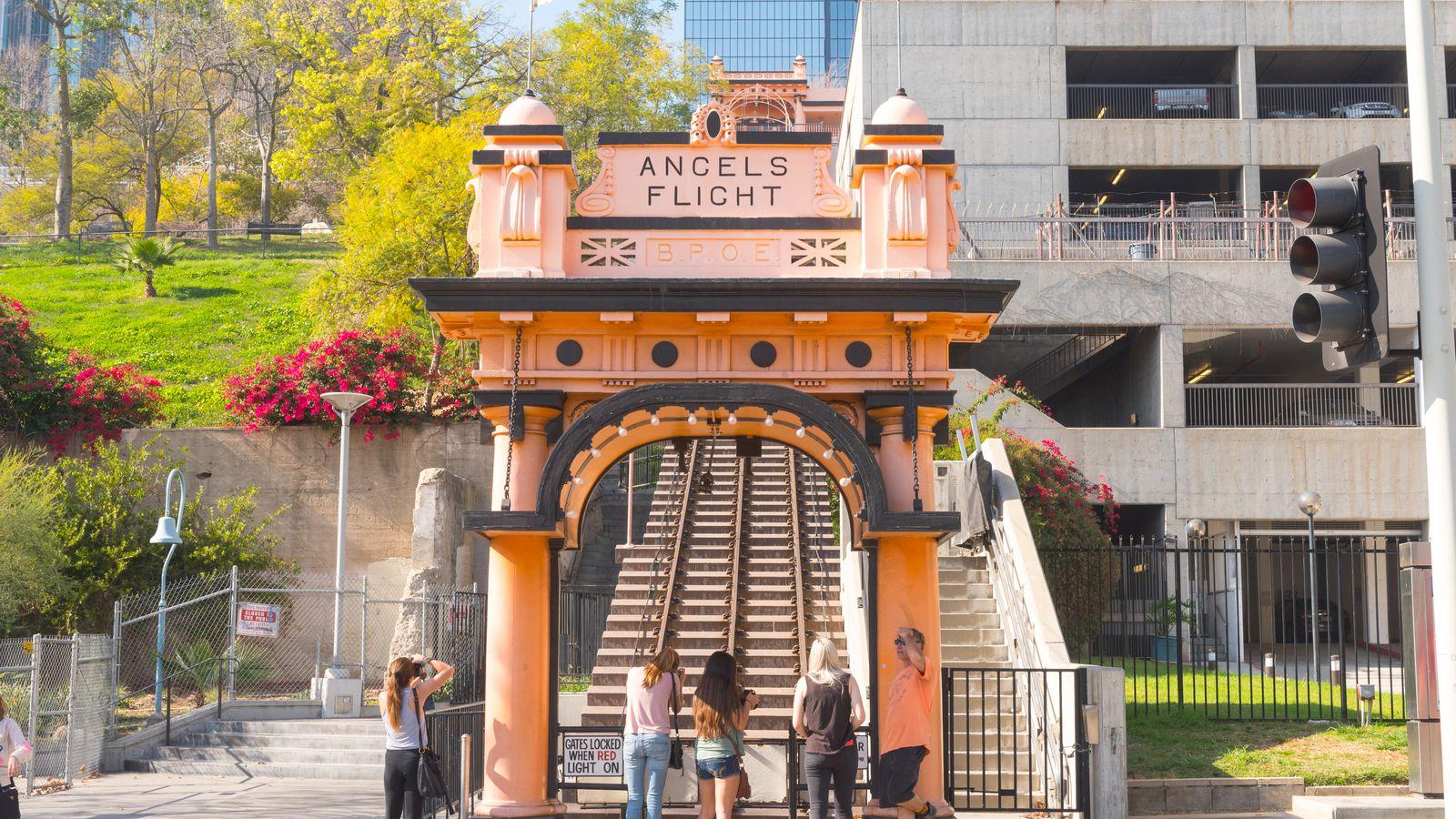 Angels Flight La S Iconic Tiny Railway Will Start