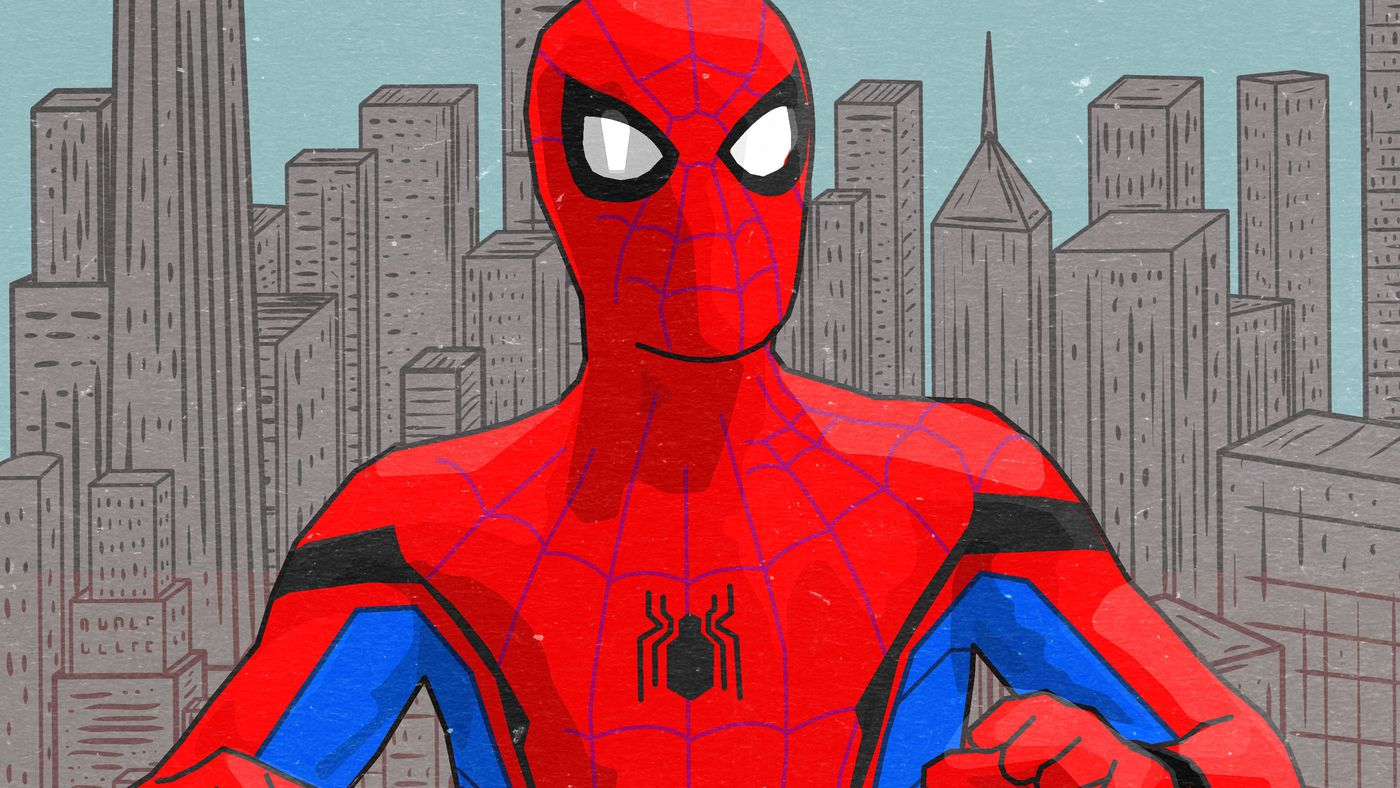 Fancy Dress Mens Spiderman Peter Parker Marvel Superhero Superheroes