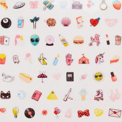 """Ban.do nail decals, <a href=""""http://www.bando.com/collections/gifts-under-25/products/custom-nail-decal"""">$8</a>"""