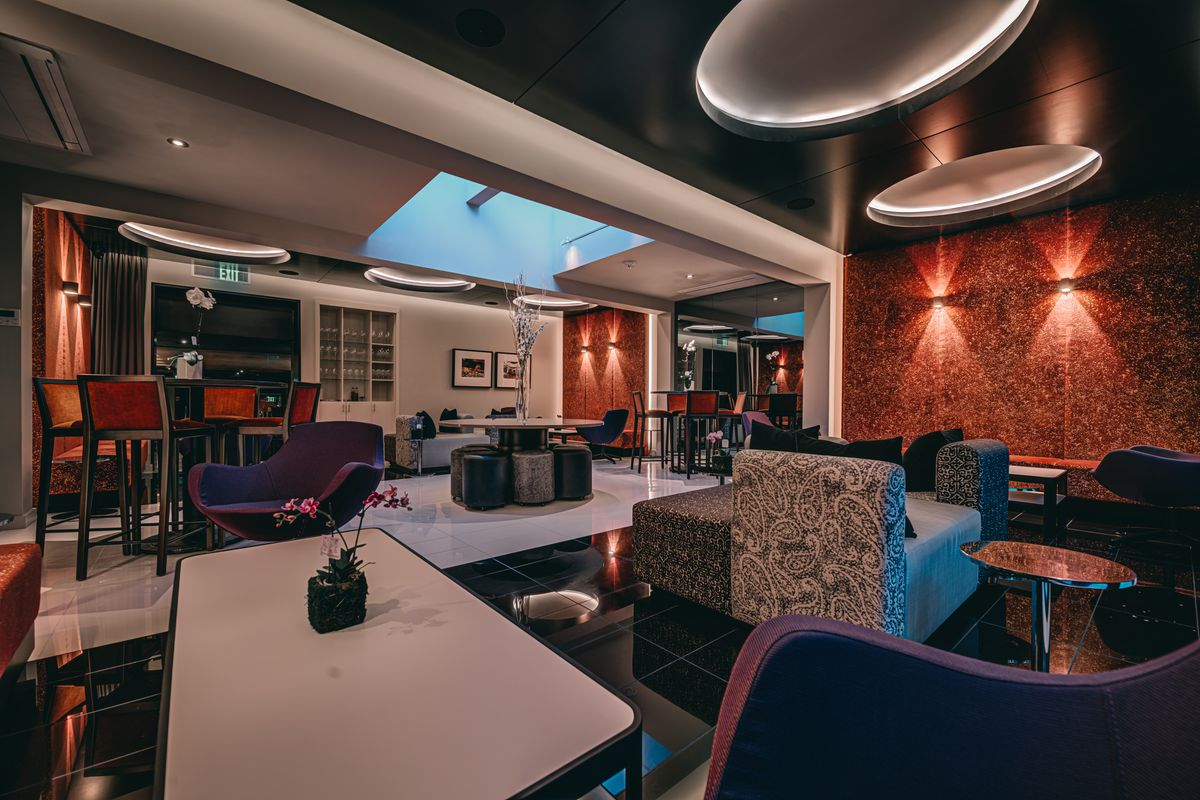 Lounge-style seating at Donahue
