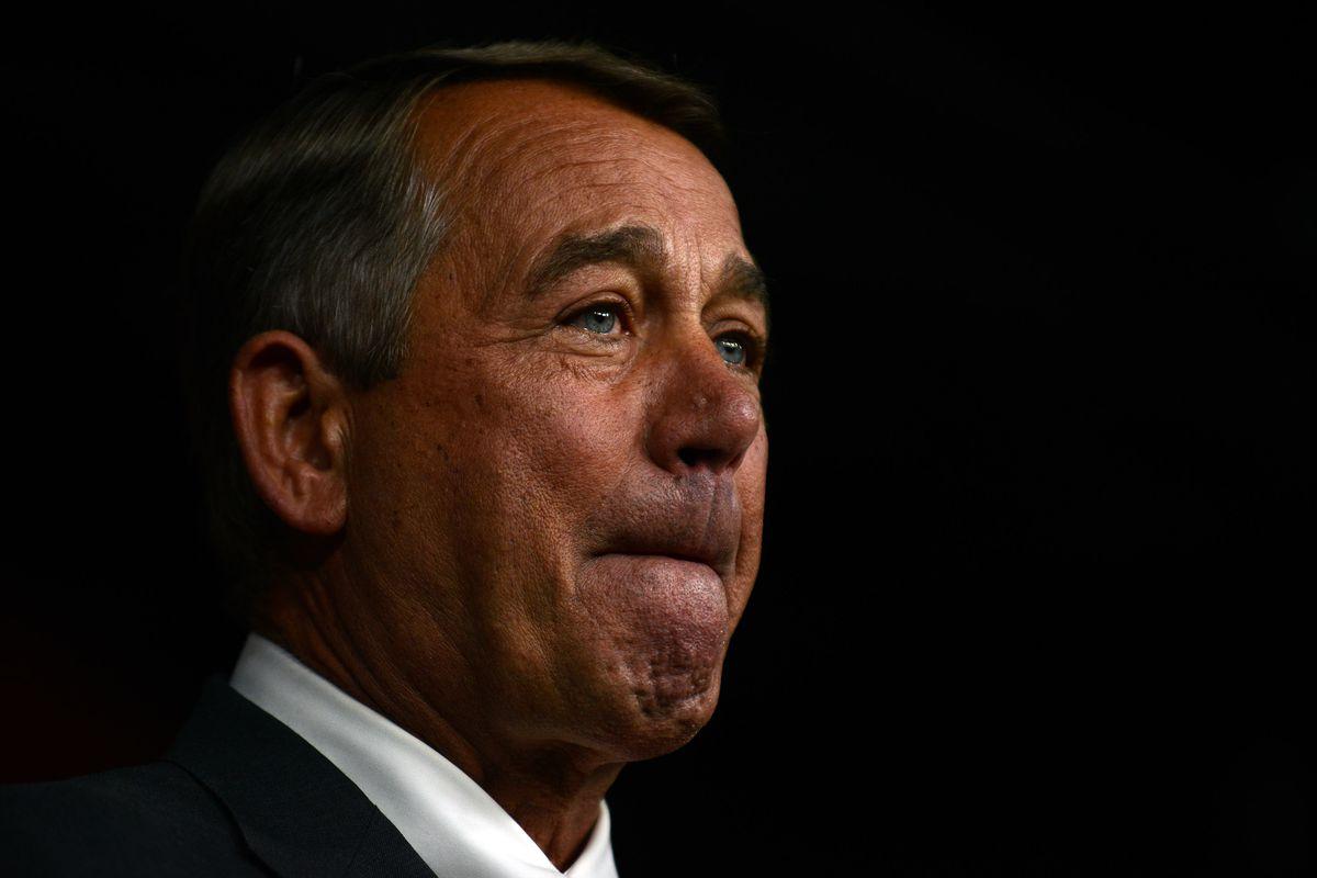 House Speaker John Boehner announces his resignation during a press conference on Capitol Hill September 25, 2015.