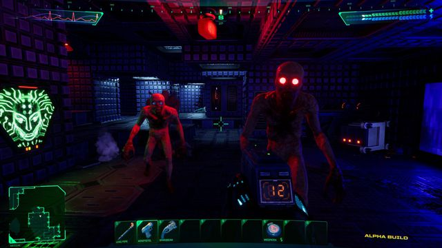 zombie looking creatures attacking the player in System Shock