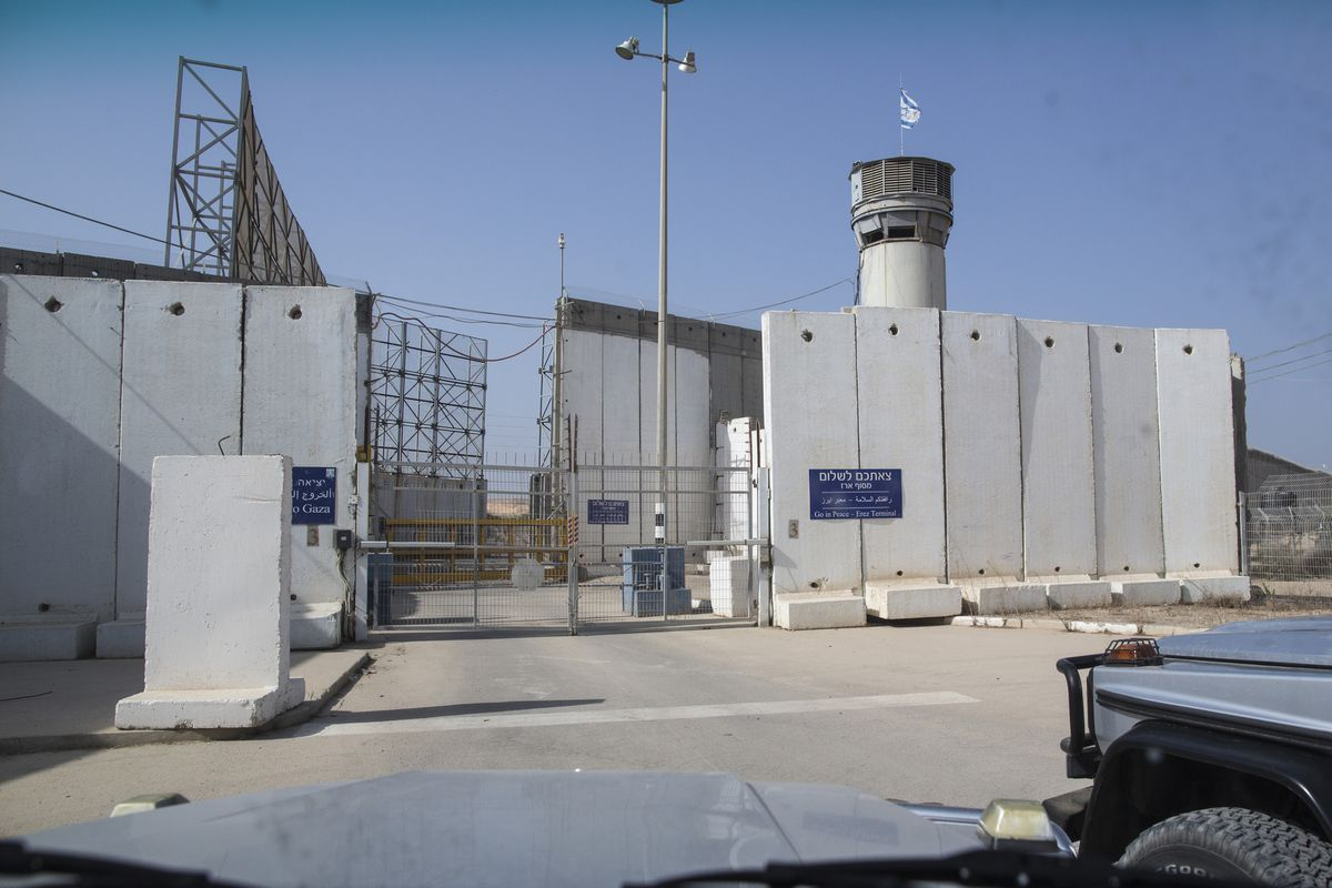 The Israeli border crossing into Gaza at Erez