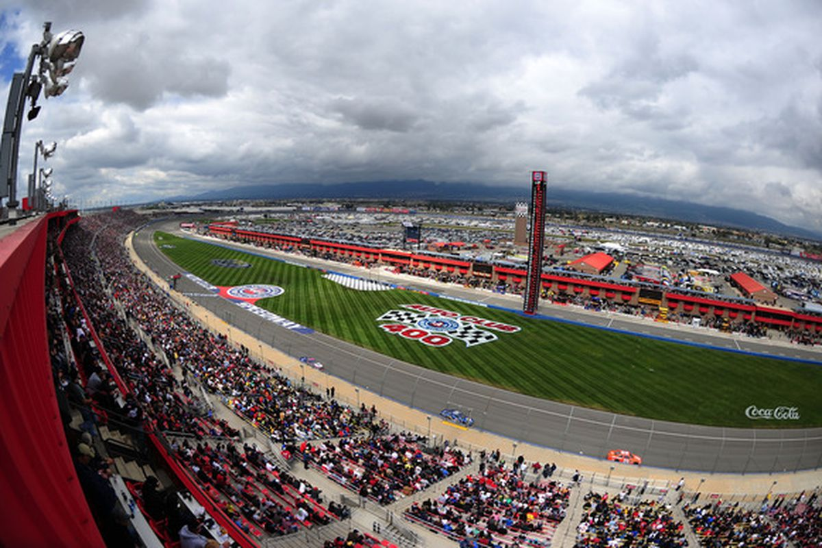 FONTANA, CA - MARCH 27:  A view of action on the track during the NASCAR Sprint Cup Series Auto Club 400 at Auto Club Speedway on March 27, 2011 in Fontana, California.  (Photo by Robert Laberge/Getty Images for NASCAR)
