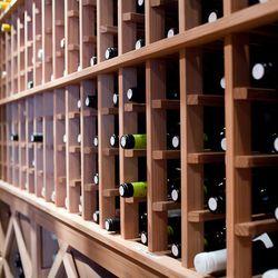 The wine cellar holds over 10,000 bottles.