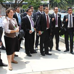 Instructors at the new Mexico City MTC arrive for work.