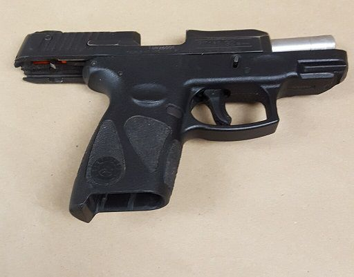 The 9 mm handgun recovered during a traffic stop Tuesday in Evanston | Evanston police