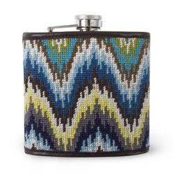 <b>For the Gay Beach Gay</b><br> We all know Gay Beach has the best view in Dolores (shh, don't tell the hipsters), and this <b>Blue Worth Avenue Needlepoint Flask</b> is the perfect accessory for a day out. It's a great pop of color and will definitely