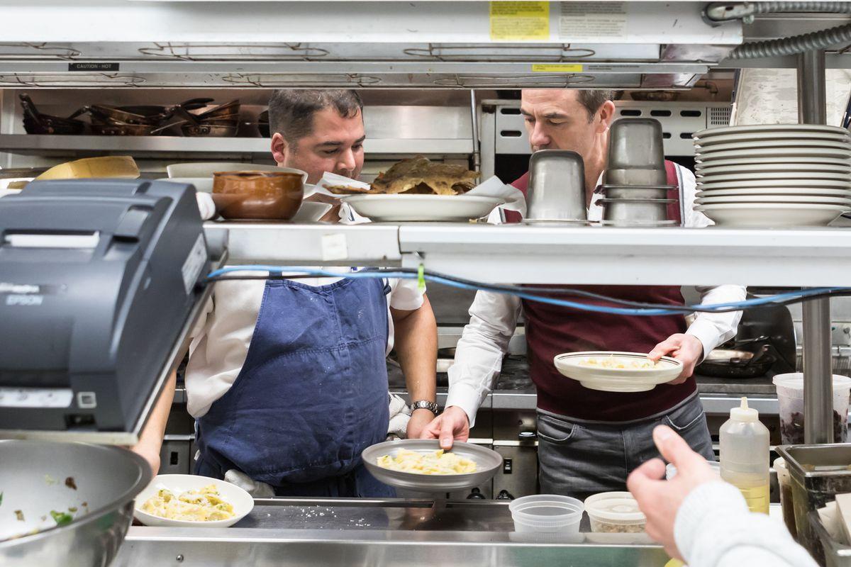Chef Freedom Rains and restaurateur Adriano Paganini