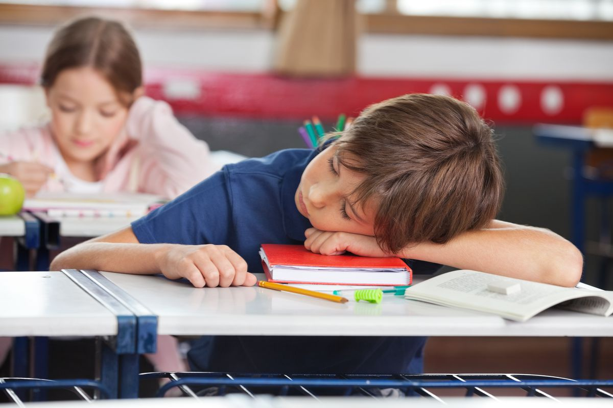 Experts say sleeping in class doesn't always stem from laziness, that itcould be a sign something serious is going on in a child's life.