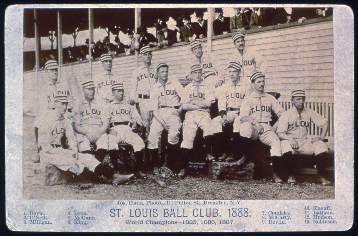 St. Louis Browns BBC Joseph Hall Cabinet Photo 1888