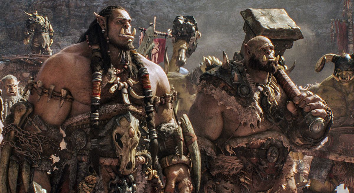 Orcs stand firm in Warcraft, the movie.