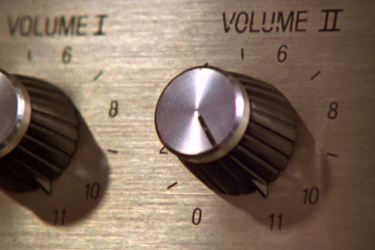 A speaker knob turned to 11