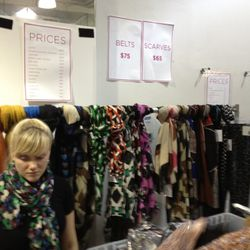 Scarves are $65 each, no matter what type