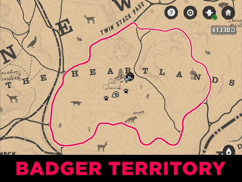 Red Dead Us Map.Red Dead Redemption 2 Badger Location Guide And Maps Polygon