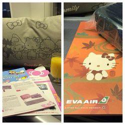 """Hello Kitty Menu and Rimowa amenity kit. EVA Royal Laurel LAX-TPE. - <a href=""http://instagram.com/p/fY7bWGInhi/"">@rolleyes</a>"