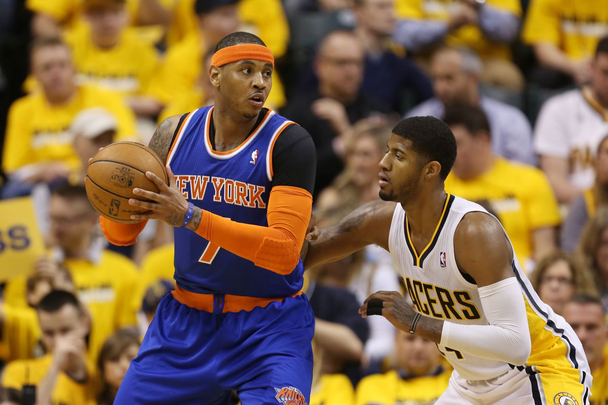Paul George has controlled Melo