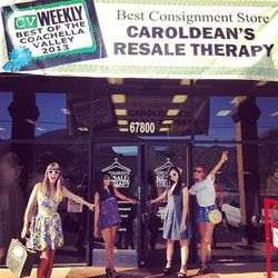 A quick 15-minute drive from Trina Turk led us to <b>Caroldean's Resale Therapy</b> (67800 East Palm Canyon Drive, Cathedral City), aka the holy grail of vintage shopping in the desert.  Can you tell we're excited?