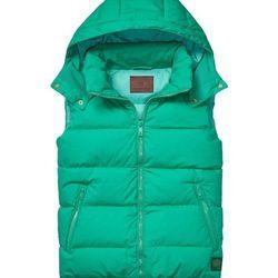 "<strong>Scotch & Soda</strong> Down Body Warmer in Emerald, <a href=""http://webstore-us.scotch-soda.com/men/jackets-%26-coats/bodywarmers/bulky-down-body-warmer/13040834003.html?dwvar_13040834003_color=night#start=1&cgid=9"">$185</a>"