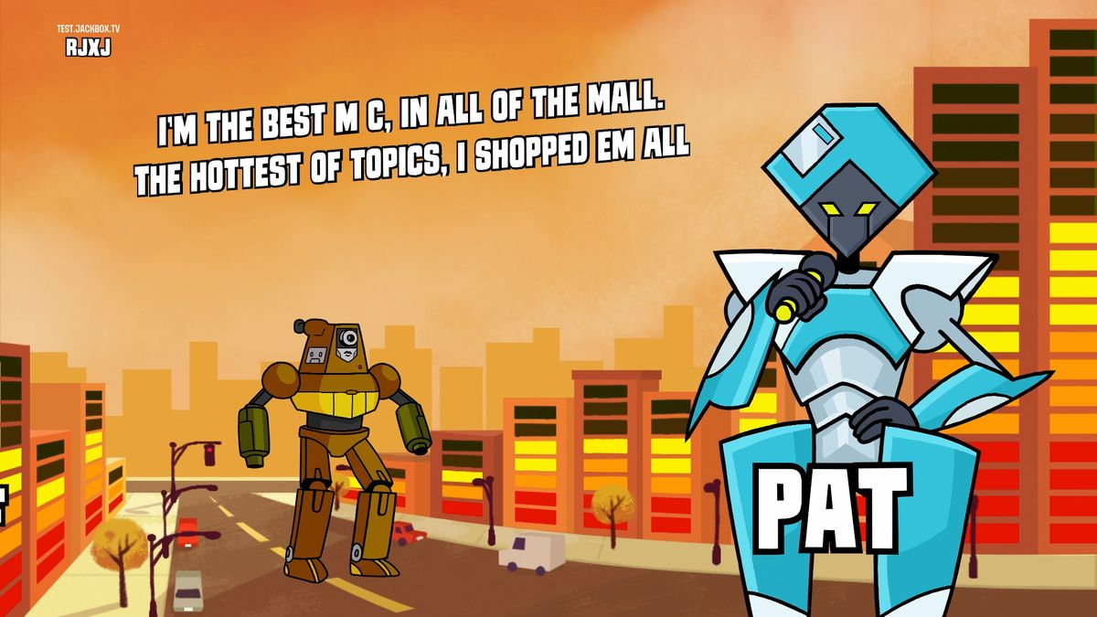 The JackBox Party Pack 5's new mode: Mad Verse City, a rap