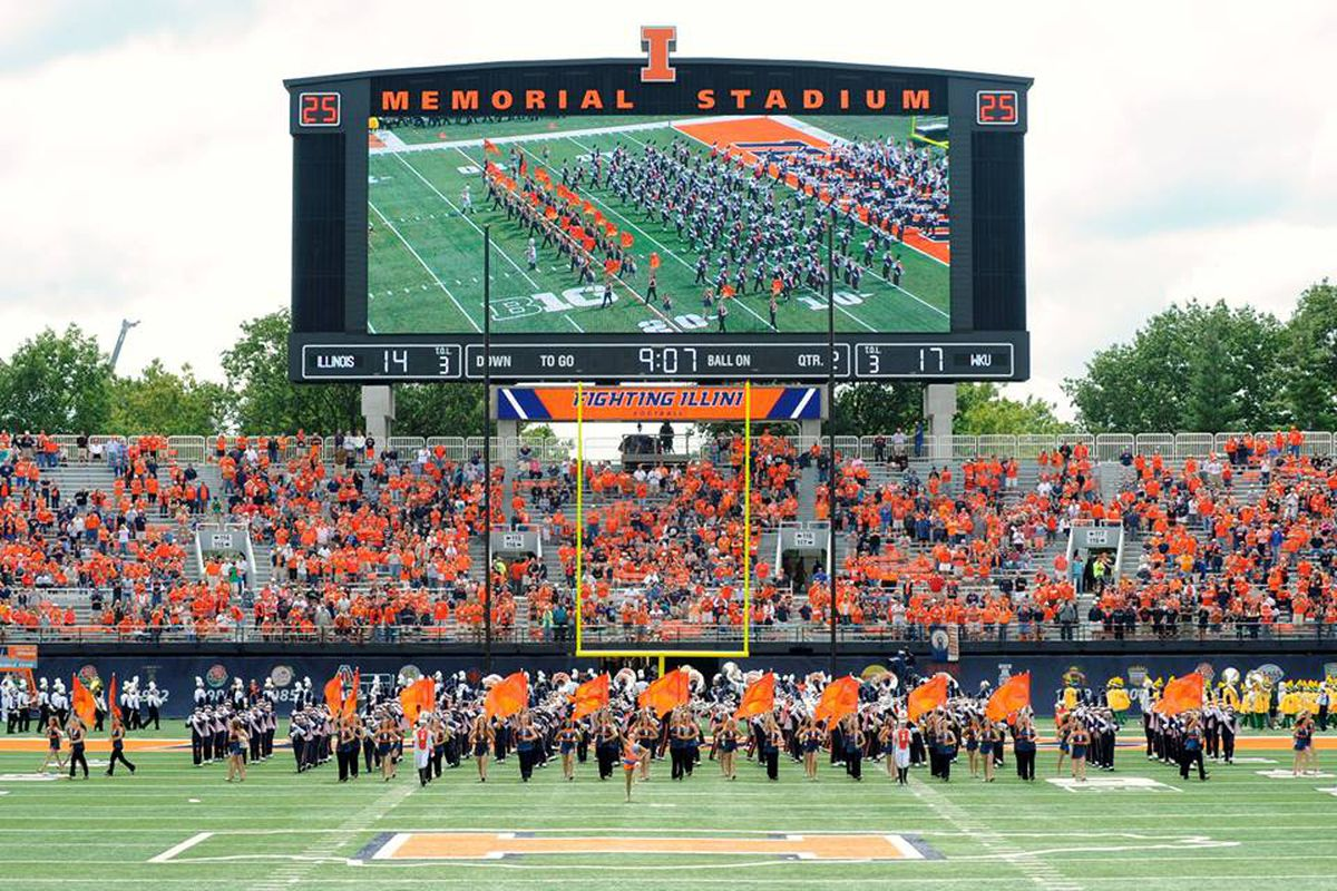 Marching for Dear Old Illini