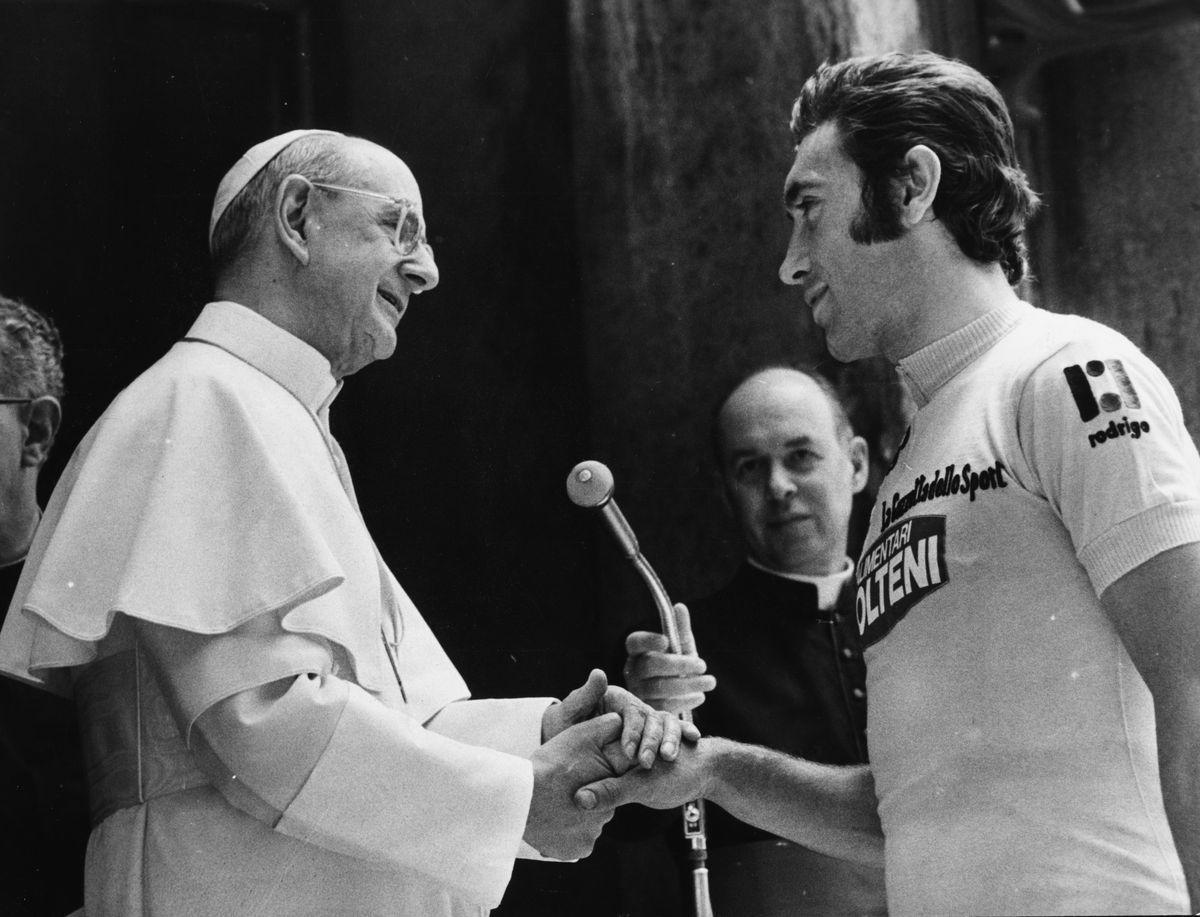 Pope Paul VI And Eddy Merckx