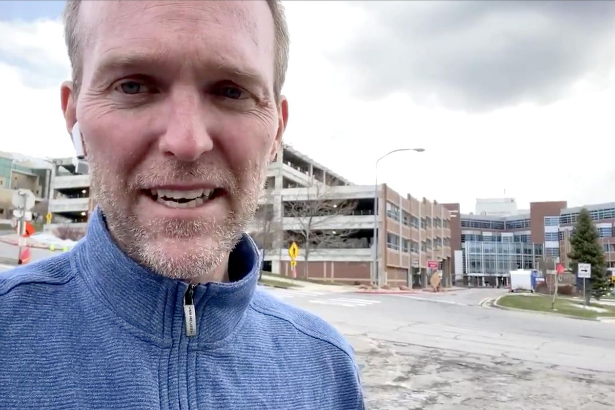 Rep. Ben McAdams tweeted out a video message on Twitter this weekend after he was released from the hospital following a battle with the new coronavirus.