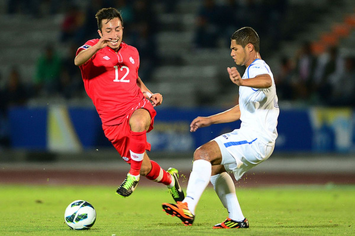 Dylan Carreiro in action with the U-20 team