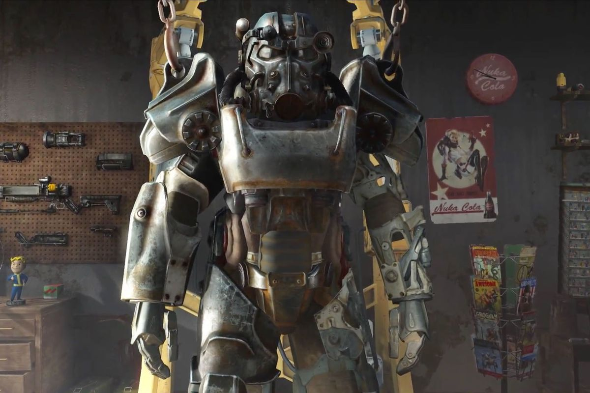 a suit of power armor in Fallout 4