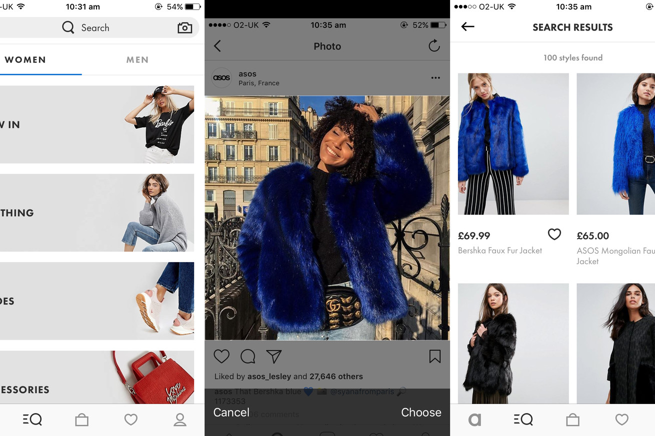 asos style match is like a reverse image search for shoppable clothes