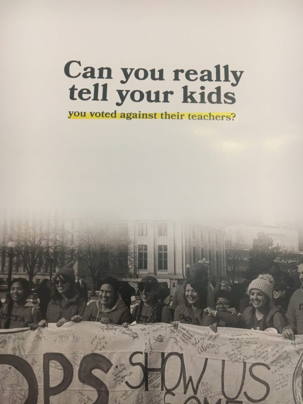 Campaign mailer from Students Deserve Better, a union-funded independent expenditure committee.
