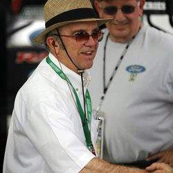NASCAR Sprint Cup Series team owner Jack Roush greets fans during practice for this weekend's auto race at Texas Motor Speedway, Friday, April 13, 2012, in Fort Worth, Texas. Texas has been good to Roush's drivers with eight victories out of 22 races.