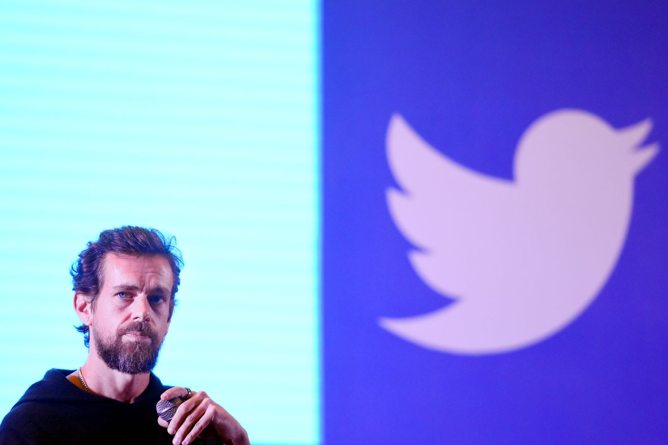 Twitter CEO Jack Dorsey addresses students at the Indian Institute of Technology in November 2018 in New Delhi, India.
