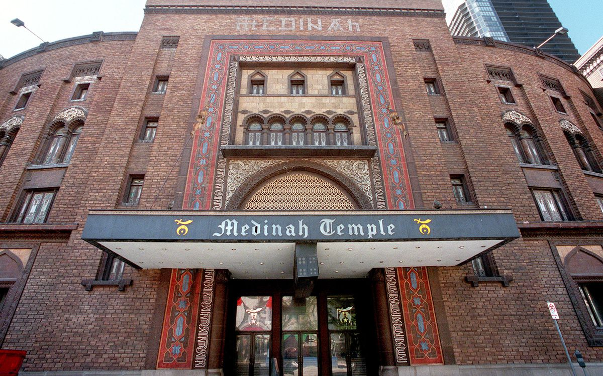 Medinah Temple on Wabash Avenue was a site of 1977 protests against anti-gay activist Anita Bryant.