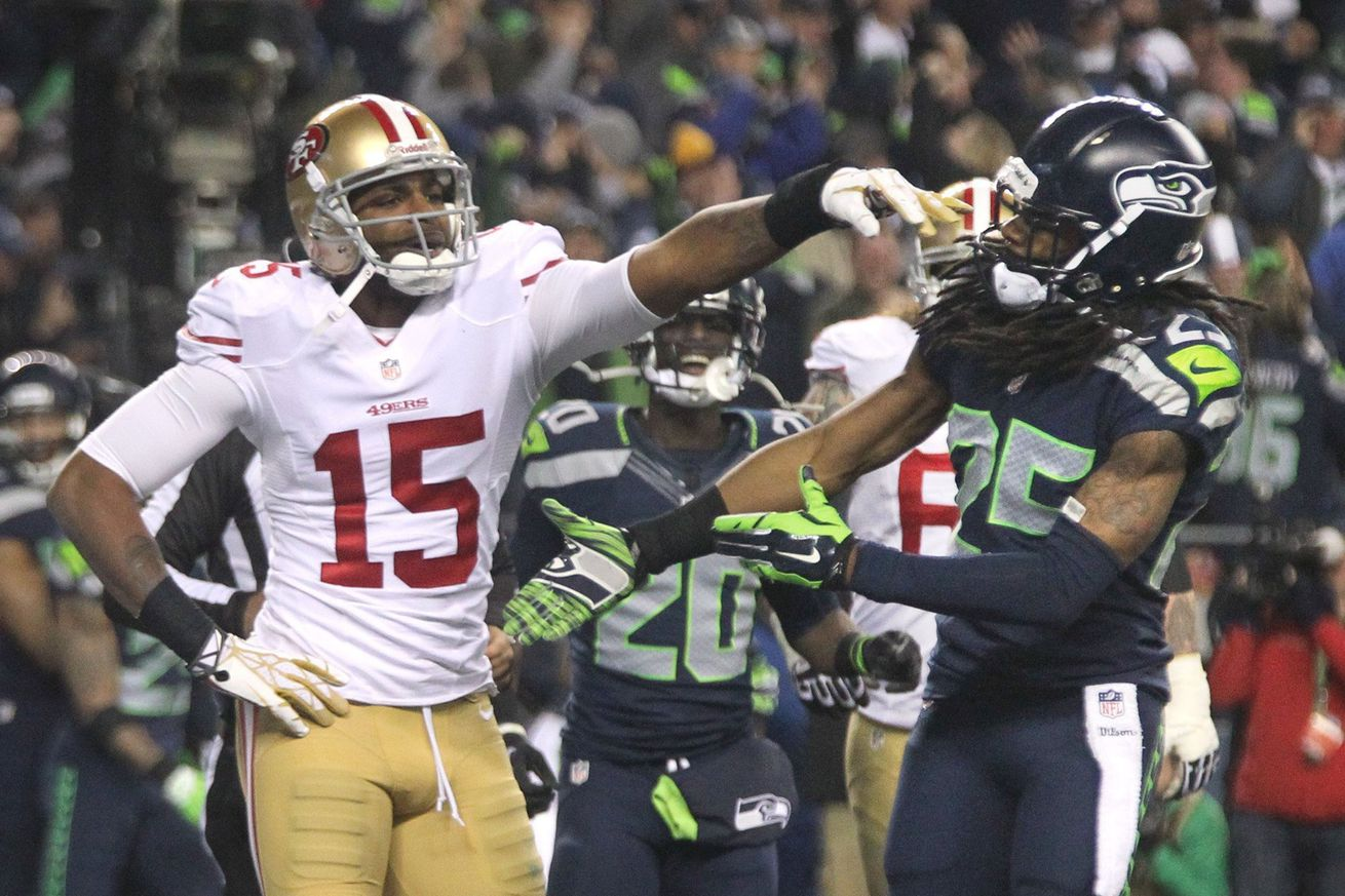 GettyImages 463936269.0 - Richard Sherman and Michael Crabtree's beef ran way deeper than we saw in public